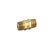 Double Male Straight Brass Pipe Nipple