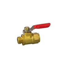 Brass Mini Ball Valves For Air Pump Air Condition Plain Surface Acid Treatment For Water Gas